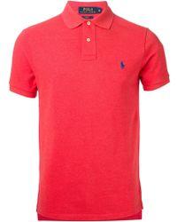 Polo Ralph Lauren Slim-fit Cotton Polo Shirt - Lyst