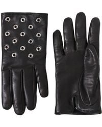 RED Valentino - Riveted Nappa Leather Gloves - Lyst