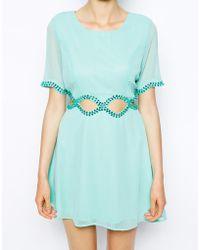 AX Paris Dress With Diamond Waist Cut-Out - Lyst