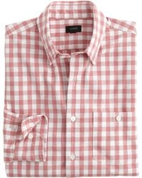 J.Crew Check Washed-Cotton Button-Down Collar Shirt - Lyst