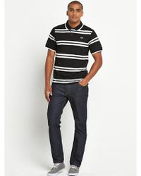 Lacoste Mens Stripe Polo Shirt - Lyst
