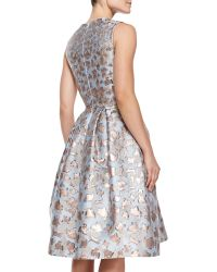 Mary Katrantzou Astere Cookie Cutter Jacquard Jewelneck Dress - Lyst