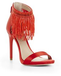 BCBGMAXAZRIA Devine High-Heel Beaded Ankle Dress Sandal - Lyst