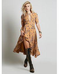 Free People Orange Bonnie Dress - Lyst