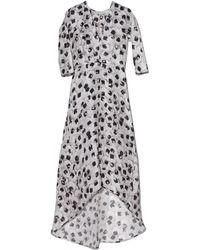 Zero + Maria Cornejo Organza Isie Long Dress - Lyst
