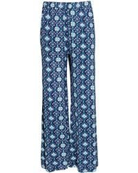 H&M Wide Trousers blue - Lyst