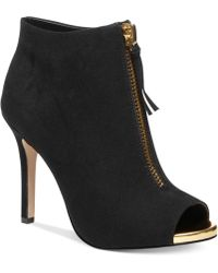 Madden Girl Ripsterrr Peep-toe Dress Booties - Lyst
