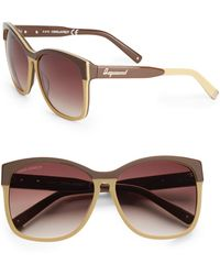 DSquared2 Geometric Acetate Sunglassesbrown - Lyst