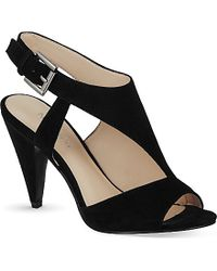 Nine West Shapeup Suede Heeled Sandals - For Women - Lyst