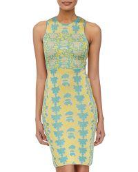 M Missoni Floral-Print Back-Cutout Dress - Lyst