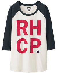 Uniqlo Women Music Icons 3/4 Sleeve Graphic T-Shirt white - Lyst