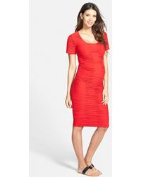 Tees by Tina Crosshatch Maternity Dress - Coral - Lyst
