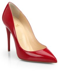 Christian Louboutin Pigalle Follies Patent-leather Pumps - Lyst