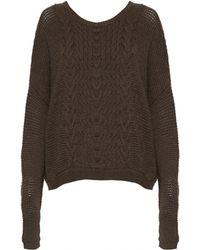Alice + Olivia Boxy Open Weave Sweater - Lyst