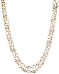 Anne Klein Layrered Chain Necklace - Metallic