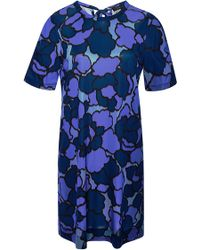 Marc Jacobs Printed Jersey Dress blue - Lyst