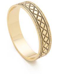 House Of Harlow 1960 Shakti Engraved Bangle Bracelet - Gold/Smokey Grey - Lyst