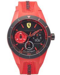 Scuderia Ferrari - 'redrev T' Chronograph Silicone Strap Watch - Lyst