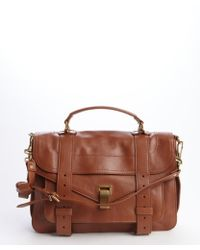 Proenza Schouler Cognac Leather 'Ps 1' Convertible Medium Bag - Lyst