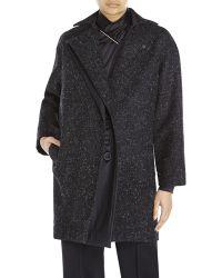 Atto - Black Wool Coat - Lyst