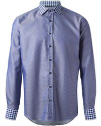 Etro Contrasting Panels Shirt - Lyst