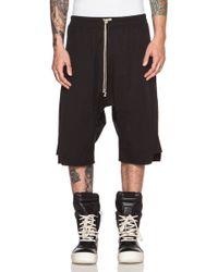 Rick Owens Men'S Basket Swinger Cotton-Blend Shorts - Lyst