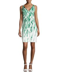 Milly Liz Brushstroke Dress - Lyst