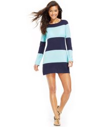 Tommy Bahama Long-sleeve Striped Cover Up - Lyst