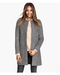 H&M Coat in A Wool Mix - Lyst