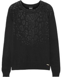 Just Cavalli Flocked Knitted Sweater - Lyst