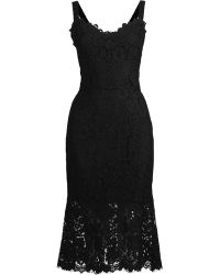 Dolce & Gabbana Lace Sleeveless Dress - Lyst
