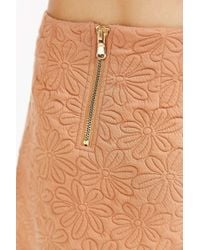 Cooperative Daisy Mini Skirt - Orange