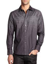 Robert Graham Pixel Pattern Cotton Shirt - Lyst