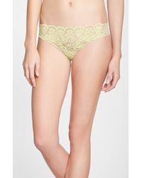 Commando 'Double Take' Lace Front Thong - Lyst