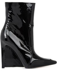 Balenciaga Patent Leather Stiletto-wedge Boots - Lyst