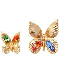 Rodarte Gold Crystal Butterfly Earrings - Lyst