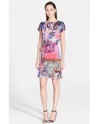 Versace Graffiti Print Jersey Dress multicolor - Lyst