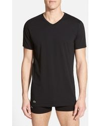 Lacoste 'Colours' Stretch Cotton V-Neck T-Shirt - Lyst