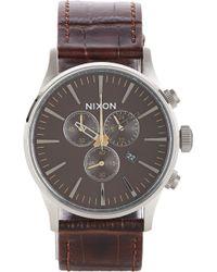 Nixon Sentry Chrono Watch - Lyst