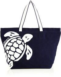 Vilebrequin - Turtle Canvas Tote Bag - Lyst