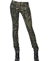 Diesel Black Gold Stretch Skinny Over Dyed Gabardine Jeans - Lyst