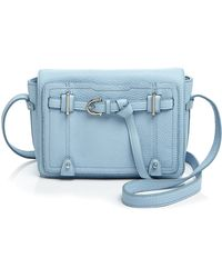 Etienne Aigner Filly Pebbled Flap Crossbody - Blue