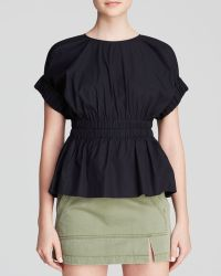 Marc By Marc Jacobs Top - Stretch Poplin Cinched Waist - Lyst
