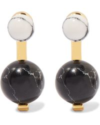 Noir Jewelry - Gold-tone And Resin Earrings - Lyst