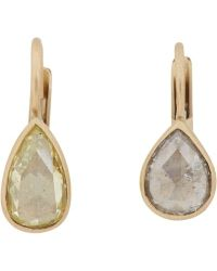 Anaconda - Yellow Diamond, White Diamond & White Gold Gwyneth Drop Earrings - Lyst