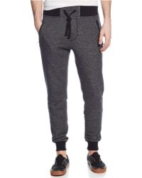 Guess Flecked Drawstring Joggers - Lyst