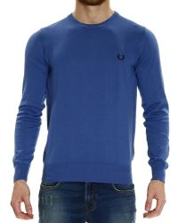 Fred Perry Sweater Knit Crew-Neck Garment Dyed Or Yarn Dyed Capo Basic - Lyst
