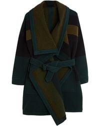 Burberry Brit Graphic Wrap Coat - Lyst
