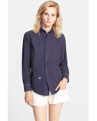 Band of Outsiders Contrast Stitch Boyfriend Oxford Shirt - Lyst