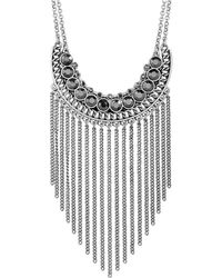 Lucky Brand - Modern Shine Fringed Chain Necklace - Lyst